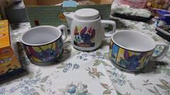 スティッチ 茶飲みセット 急須&マグカップ2つ ボウル皿