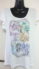 人気  ディズニー TDS 15周年 パステル ミッキー & プリンセス Tシャツ L