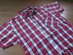 ★BROWNY製半袖チェック柄シャツ/WEGOサイズM
