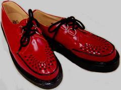 ジョージコックス英国イギリス製ラバーソール3588レッド赤uk4