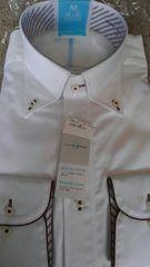M サイズ!高貴な紳士的長袖ワイシャツ!新品!襟回り39ゆき81