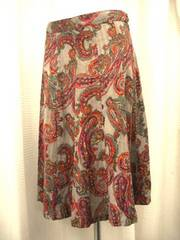 【FOREVER21】プリントフレアースカートです
