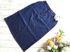 新品 MELVIS タイト ロング スカート 3L〜4L 紺