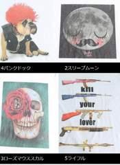 即決新品☆カジュアル♪スリープムーン柄☆プリントTシャツ☆ホワイトF