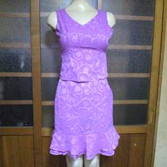 OTTO collection花柄 ピンク シフォン スーツ 3点セット 結婚式等にも