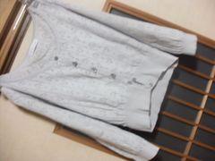 EHG*ハートかぎあみ七分袖カーデ★クリックポスト164円