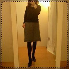 ローラアシュレイ☆カットオフツィード大人グレースカート 38 L