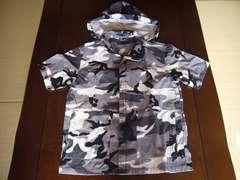 ★FLAT LINNER★グレー&ブラックのオシャレな迷彩半袖シャツ★