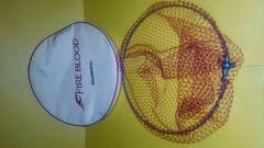 チタン製ファイアブラッドタモ枠、網40センチ