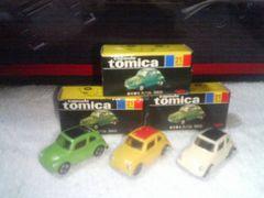 カプセルトミカ2  黒箱  スバル360   緑 黄 限定カラー  アイボリー てんとう虫