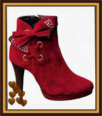 大人気即完売色 キラキラリボン姫系ブーツ