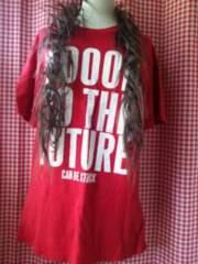 LL大きいサイズmen'sロゴ半袖Tシャツ赤