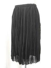 【セシオセラ】黒のパンチングロングスカートです