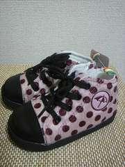 新品未使用アーノルドパーマー子供用靴13.5センチ(ピンク×赤ドット)切手可
