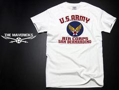 USAAC・アメリカ陸軍航空隊1940モデルTシャツ.白XL/ミリタリー