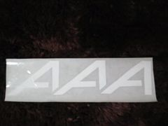 AAA☆ハンドメイドAAA型新ロゴステッカーシール☆(大)ホワイト