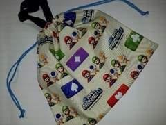 T97 体操服入れ巾着 マリオ (^o^) 着替え袋 ハンドメイド