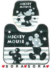 【ミッキー】可愛いトイレマット&カバー洋式2点セット�B
