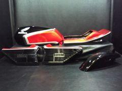 S-432◆CBX400F用◆純正風ペイント外装一式◆黒×赤 �U型