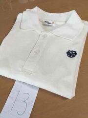 13■美品■半袖  キッズ ポロシャツ 120cm 白 ホワイト 切手可能
