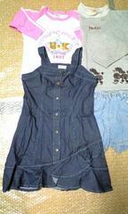 女児130^150ズボン・トレーナー・未使用スカート