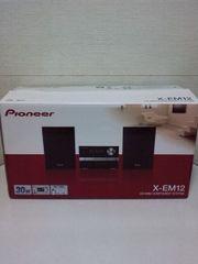 <送無>パイオニア人気CDコンポX-EM12(美)+新品USB[32GB]ワイドFM