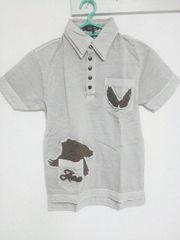 A-206★新品★半袖刺繍入りポロシャツ グレー M