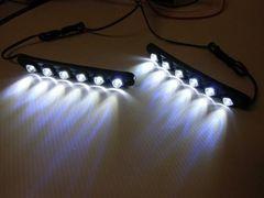 メール便可!激安LEDデイライト/曲面使用可能!左右セット/社外品