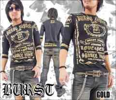 メール便送料無料【MAD BURST JAPAN】706167分Tシャツ黒金XL