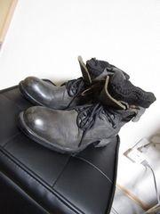 アルフレッドバニスター レイヤード ニット ブーツ 43 灰