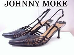 送無 ジョニーモーク JOHNNY MOKE サンダル 黒 34 美品★dot