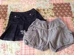春夏物 女の子 110cm スカート カボチャパンツ 2枚セット