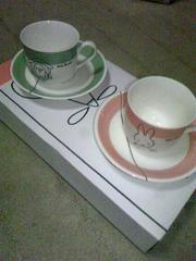 ミッフィー柄ペア コーヒーカップ