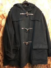 新品☆8L大きいサイズ黒ダッフルコート綿入り柔らかn847