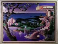 アクリル ケン・ショットウェル『フェアリーランド』真作保証 巨匠 ルミナート画開発者