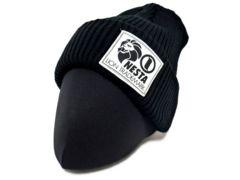 新品正規NESTA BLANDデカネームニット帽ブラック