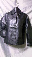 合成皮革PUレザーシャツジャケットM未使用品