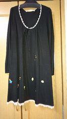 フランシュリッペ大きいサイズ刺繍ワンピース