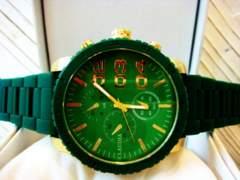 ◆正規CLAUDIA◆BIGフェイスラバーベルト腕時計◆DIESEL系
