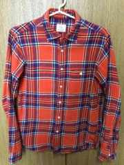 ユナイテッドアローズ BEAUTY & YOUTH ネルシャツ 橙色 Mサイズ/レタパ送料無料