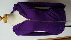 新品 タグ付き フード ポケット パーカー 紫