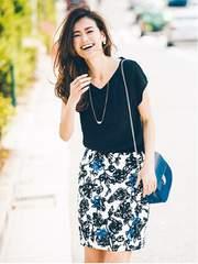 ジャスグリッティー ◆一度着美品◆ 単色プリントタイトスカート (ブルー) ♪