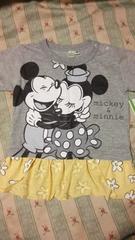 新品ミッキーミニー半袖 Tシャツトップス定価\1620ディズニー