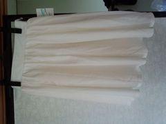 新品 フレアスカート ホワイト
