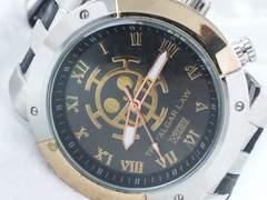 5224/ワンピース超ビックフェイス☆存在感抜群でメンズ腕時計ウレタンバンド