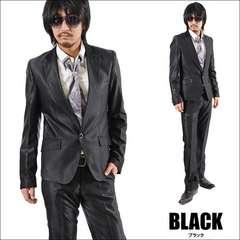 1Bシャンブレースーツ新品ブラックM