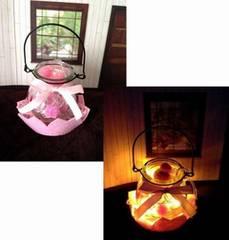 LEDケーブルライト イルミネーション ピンクのお花 ランタン