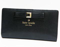 kate spadeケイト・スペード 二つ折り長財布 黒 良品