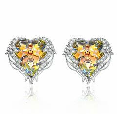1円〜◆Yellow crystal パーティー jewelry ピアス