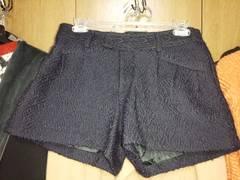 ネイビー ショートパンツ ウール 36 Sサイズ